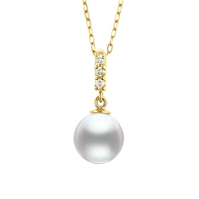 K18YG パール・ダイヤモンド ネックレス