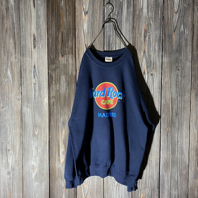 [Hard Rock Cafe]Madrid navy sweat
