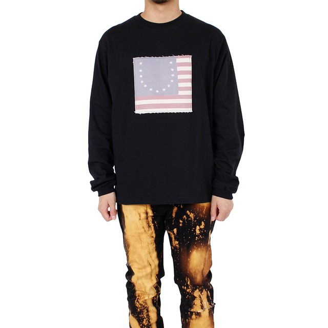 424 Smiley Flag long Sleeve T-shirt