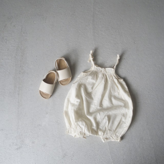 Baby flower embroidery rompers