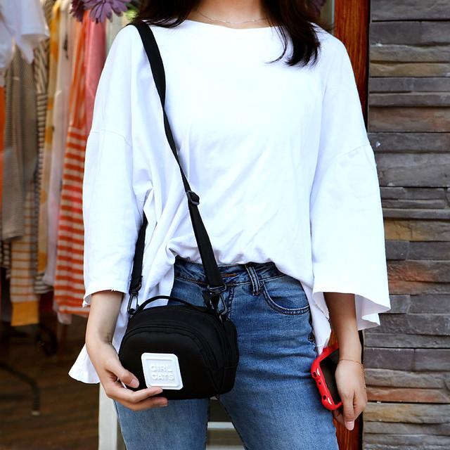 【bag】ファッション帆布シンプル合わせやすい斜め掛けバッグ
