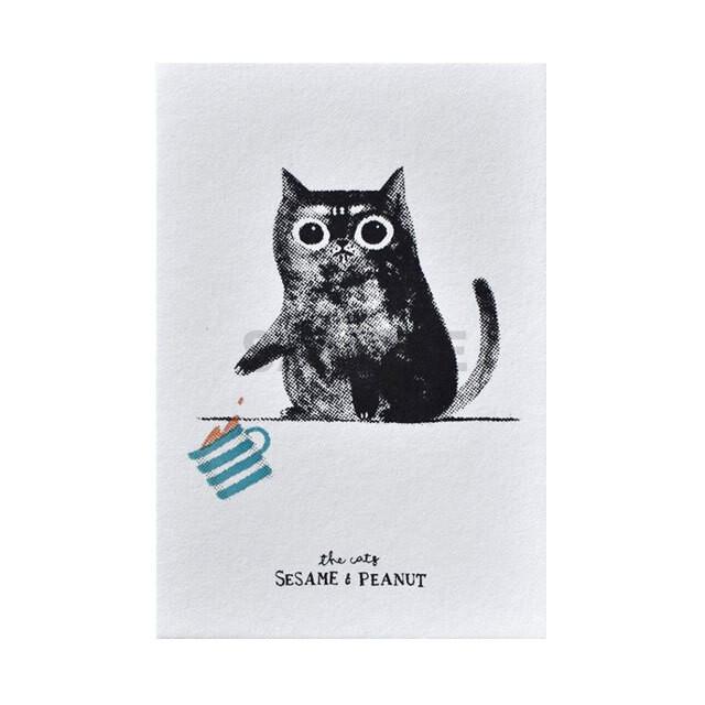 台湾 手刷りポストカード 「おなら」とカップ