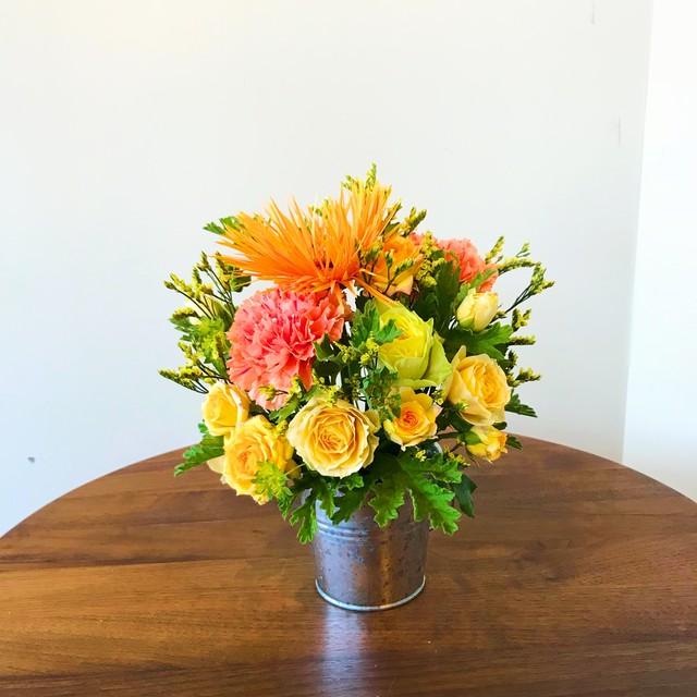 母の日アレンジメント【Orange Yellow】