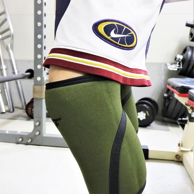 10FIT ニースリーブ サポーター 膝 トレーニング ダークグリーン 9mm ペア TE-75