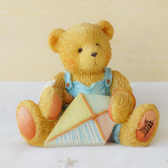 【Cherished Teddies】凧を持ったくまの男の子/フィギュア置物