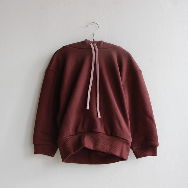 《UNIONINI 2021AW》reflect logo hoodie / wine