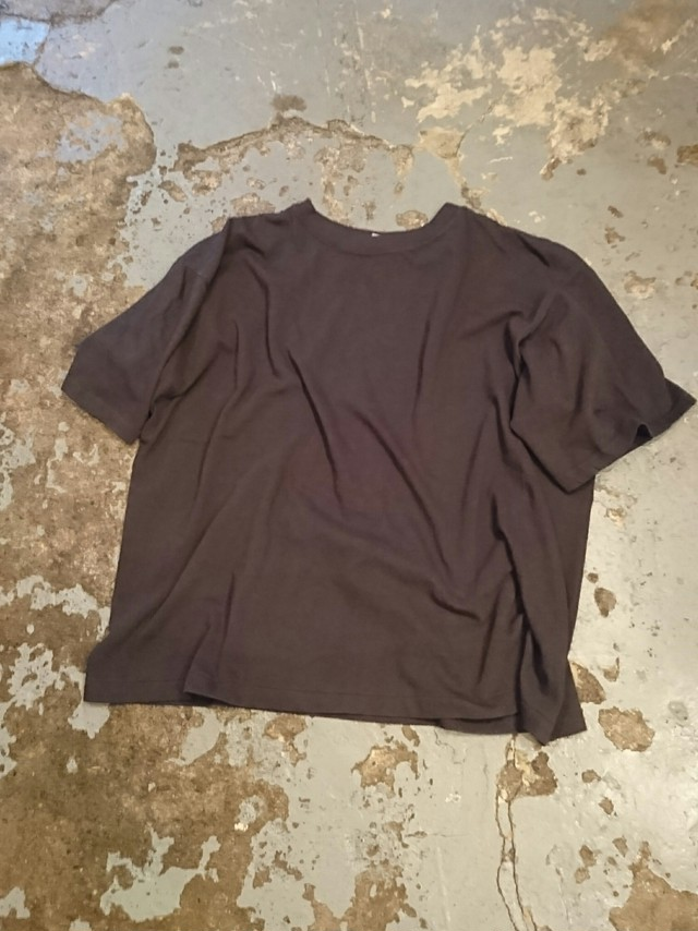 """NEW """"HIGH DESIGN LOOSE SOLID TEE"""" Black Color"""