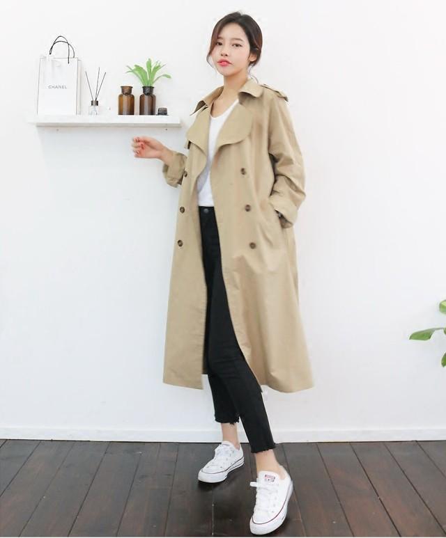ロングであったか、上品でシンプルなデザインのチェスターコート♡全3色Mワンサイズ