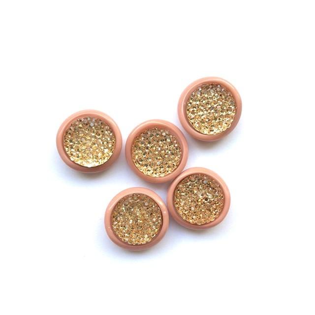 ピンク縁キラキラボタン