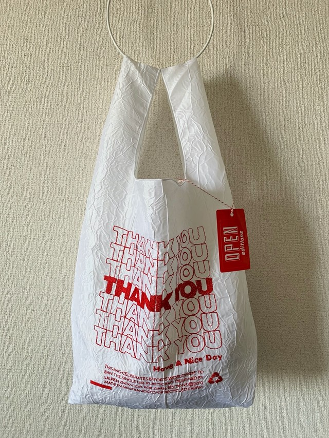 【OPEN EDITIONS / 送料無料】THANK YOU TOTE エコバッグ/ THANK YOU Red