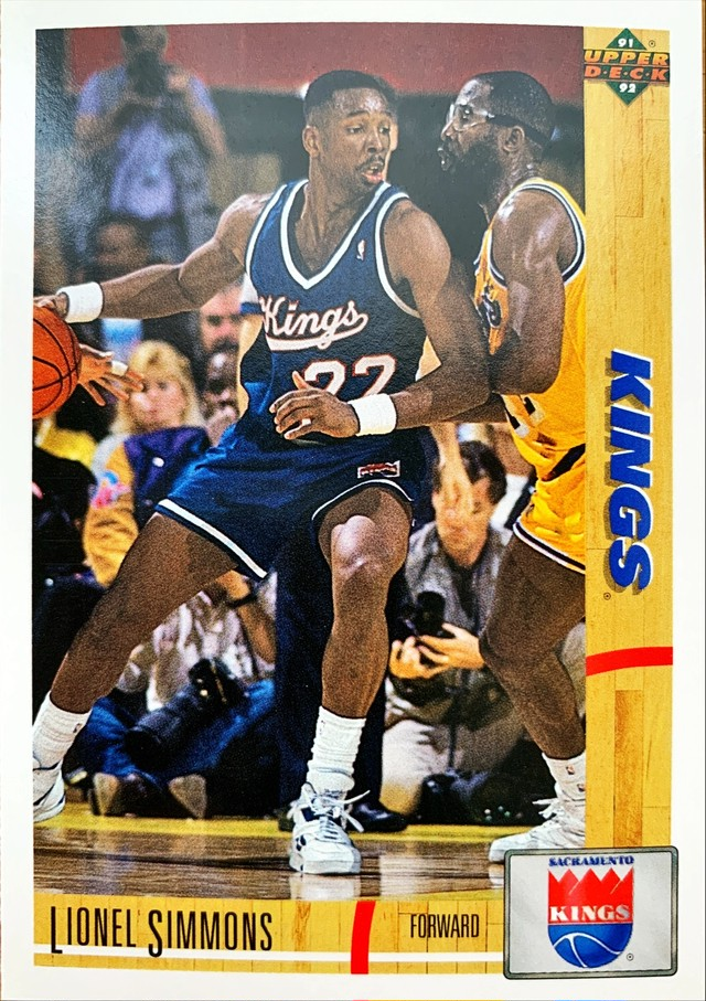 NBAカード 91-92UPPERDECK Lionel Simmons #375 KINGS