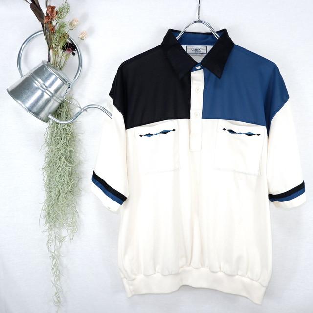 [XL] Classics Asymmetry Polo Shirt | アシメントリー ポロシャツ