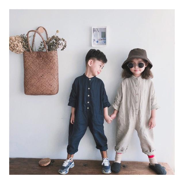 【先行予約・一部即納】ジャンプスーツ オールインワン おそろい ユニセックス SS 春夏 韓国子供服