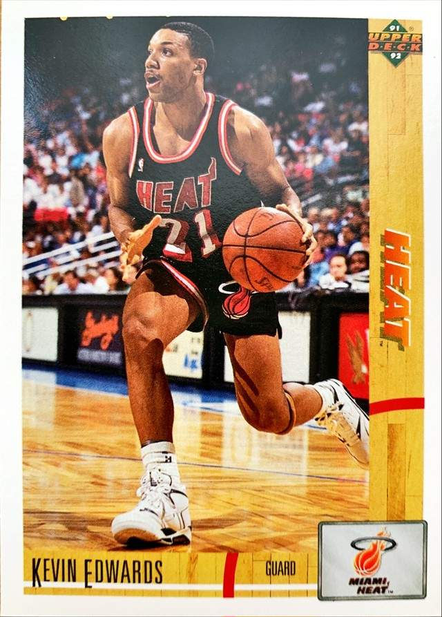 NBAカード 91-92UPPERDECK Kevin Edwards #141 HEAT