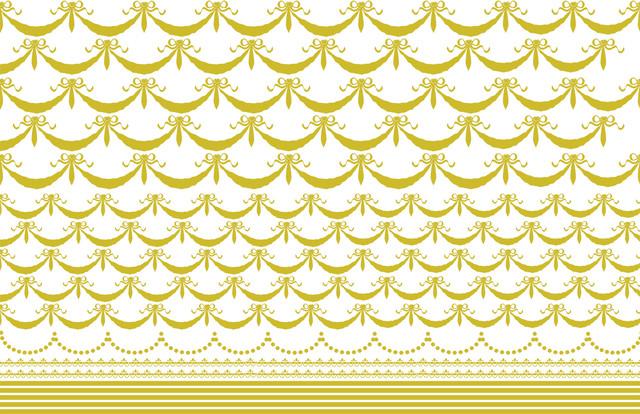 リボンガーランド&ライン(ゴールド)