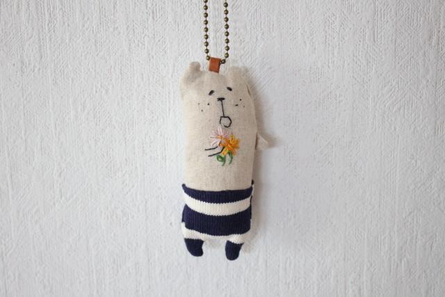 muuちゃん 手刺繍 タピオカ ストラップ