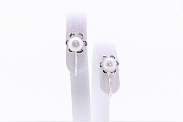 アコヤ真珠 SVデザインイヤリング