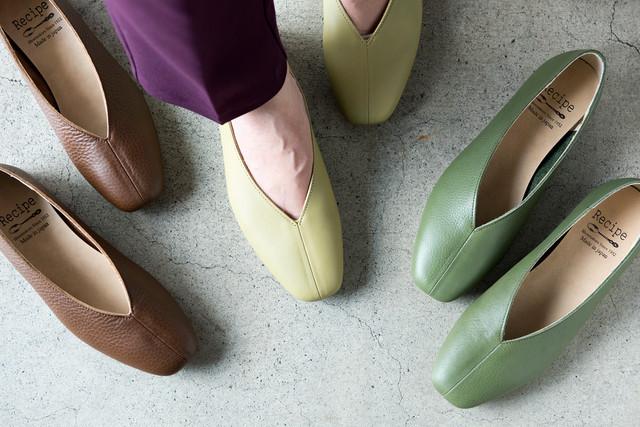 Recipe shoes shop ANTE / レシピ RP-267 Vカットスクエアシューズ