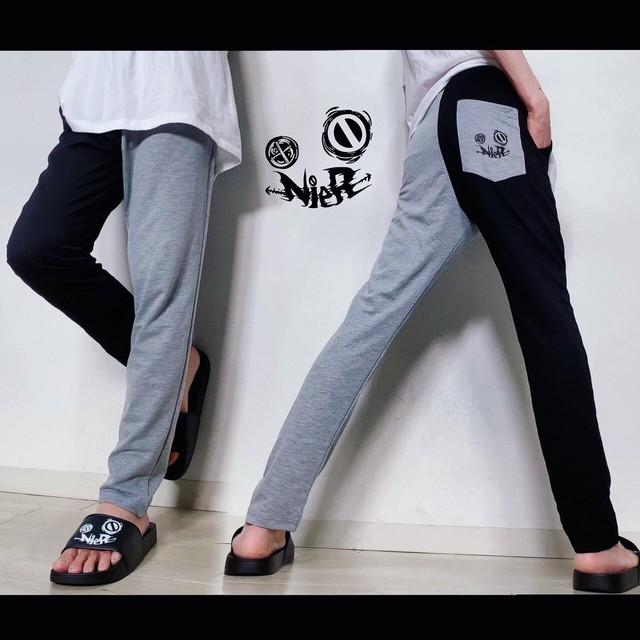 TWO-TONE SWEAT PANTS【GRAY×BLACK】