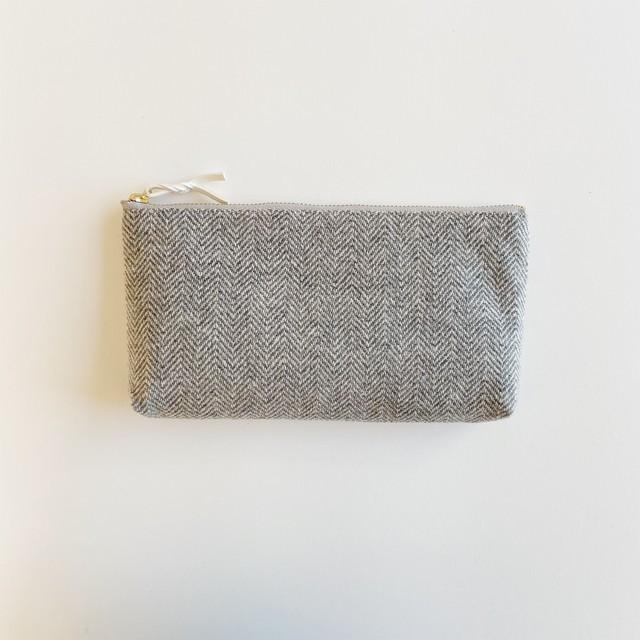 手織りロングケース(Long case Cashmere herringbone)