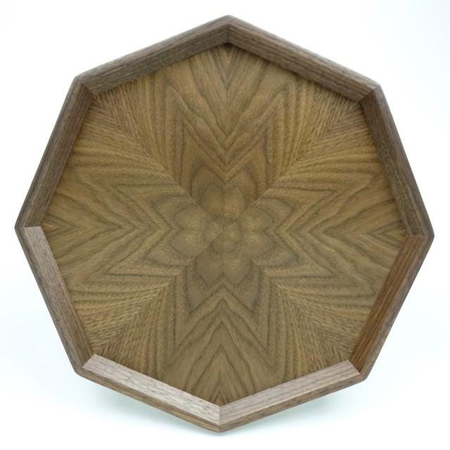 Black Walnut 八角形のトレー OBWT-0174