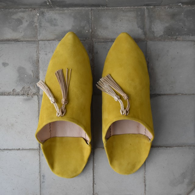 "SØMME / TASSEL BABOUSH  SUEDE ""Yellow"""