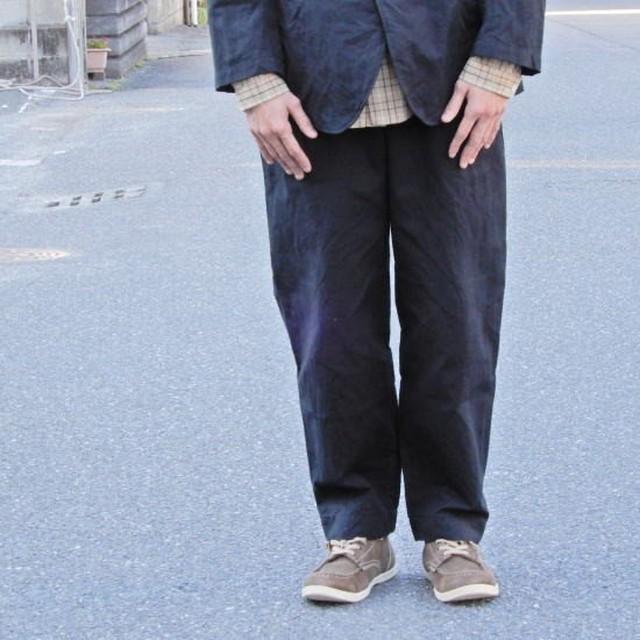 LOLO(ロロ) 綿麻 ペグトップ イージーパンツ ブラック