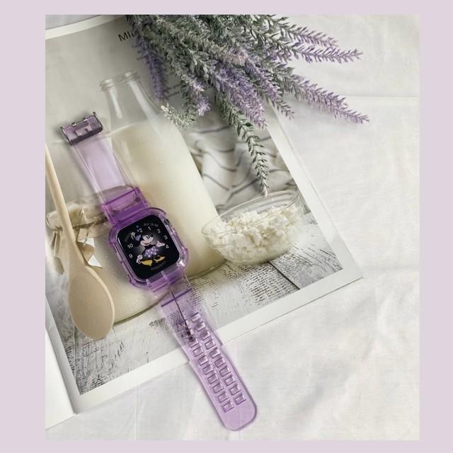 Clear simple apple watch belt (Purple)