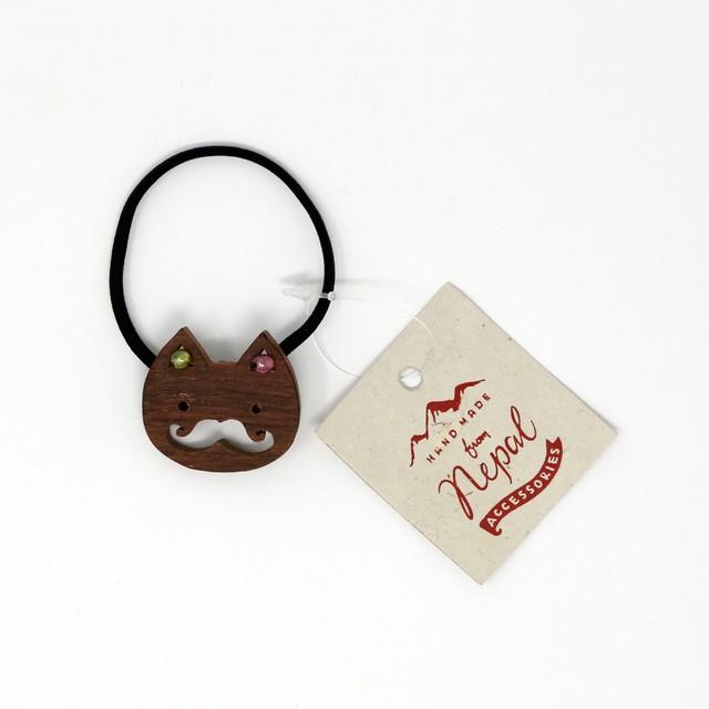 猫ヘアゴム(ヒゲネコ)