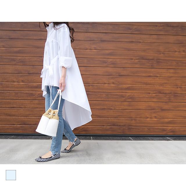 【再入荷準備中】アシンメトリーフレアシャツ|A04001