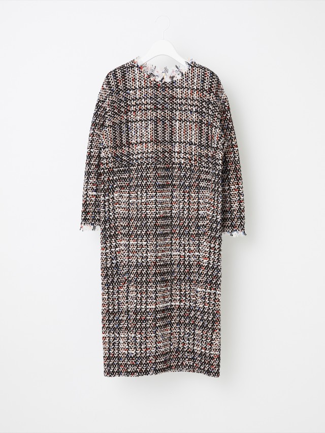 【COOHEM  WOMEN】VINTAGE CHECK TWEED ONE-PIECE