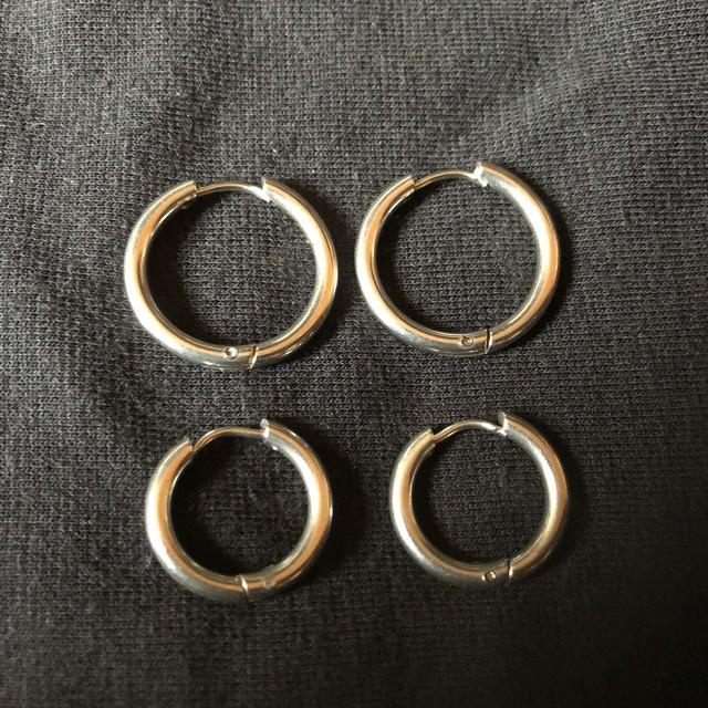ピアス【simple ring】両耳set