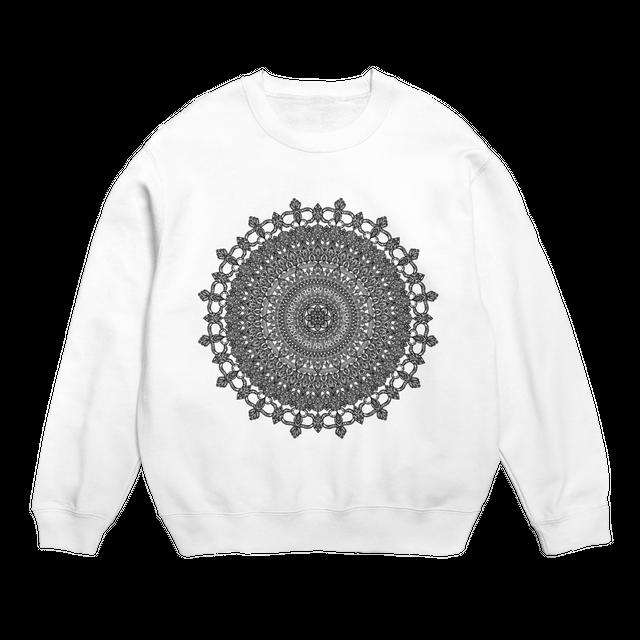 Mandala no.001 スウェットシャツ ホワイト