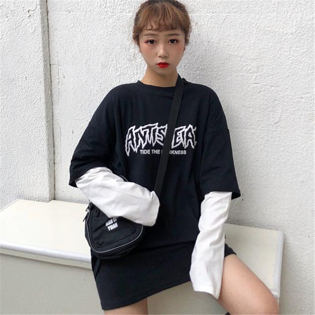 【トップス】人気爆発中ストリート系配色切り替え長袖Tシャツ26891259