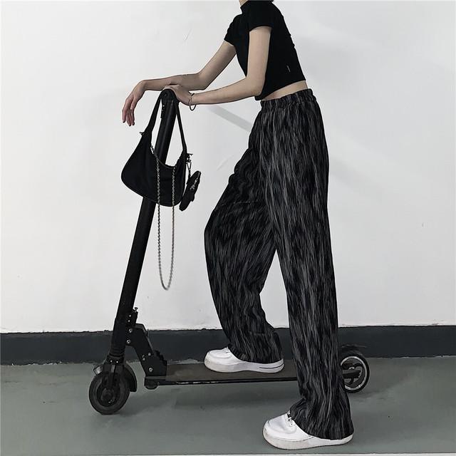 【ボトムス】暗黒系ストリート系プリントファッションカジュアルパンツ44639703