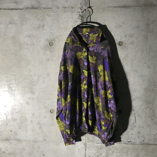 [used] water painting purple designed poly jacket