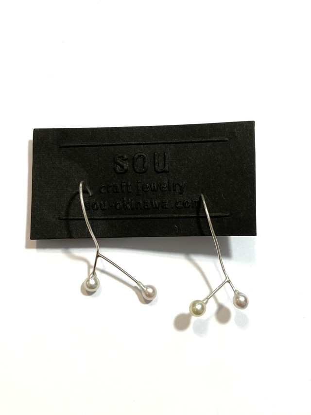【atelier sou】伊勢アコヤパールピアス /sv