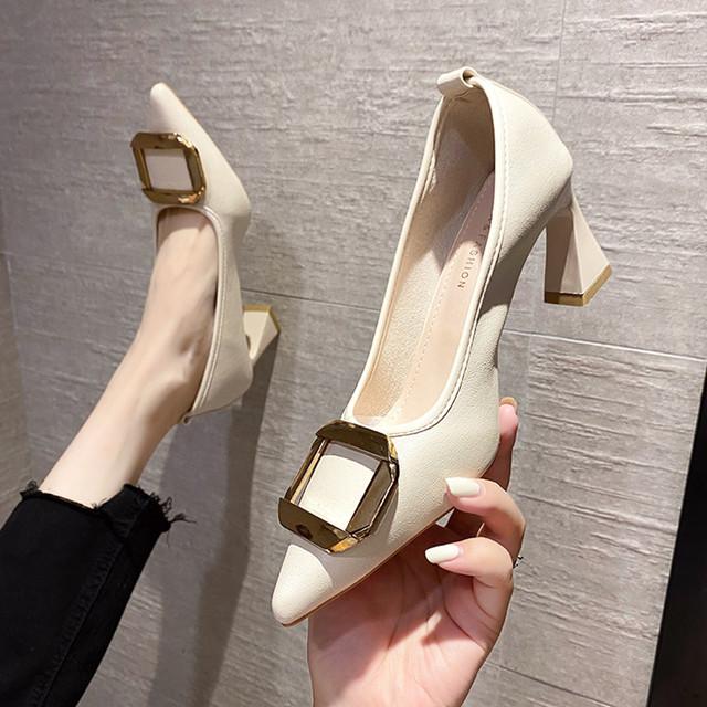 ローヒール シューズ パンプス 靴 SHS582610