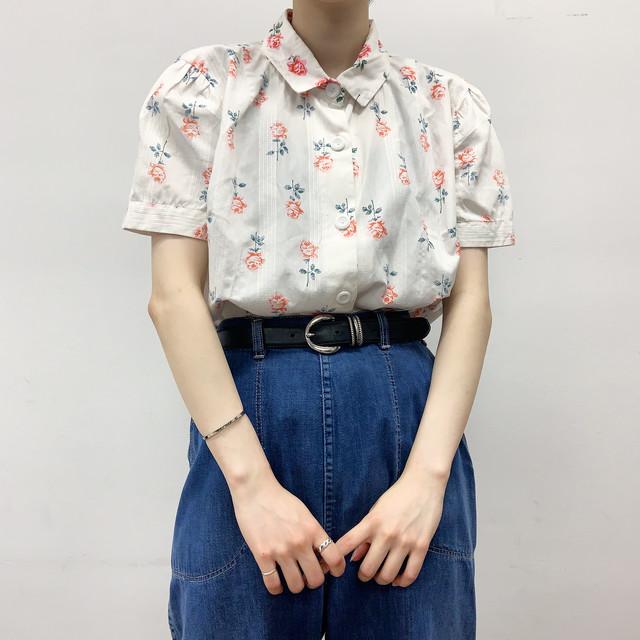 vintage flower pattern blouse