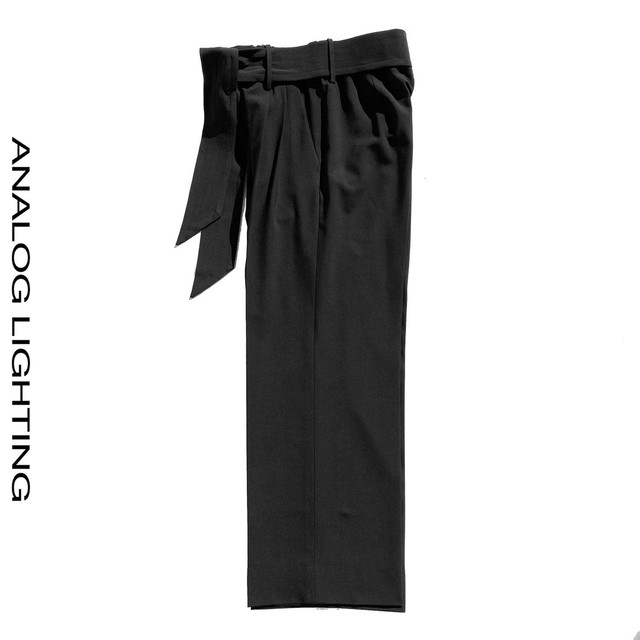 Wide Pants  WOOL/BLACK