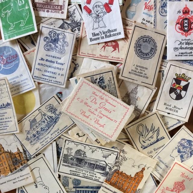 パッケージが可愛い! ヨーロッパヴィンテージ 砂糖袋20枚アソート