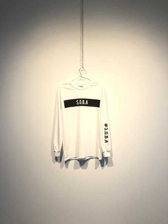 S.O.B.A フロントプリント ロングスリーブTシャツ