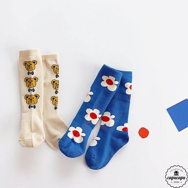 «予約» bear&flower socks 2set