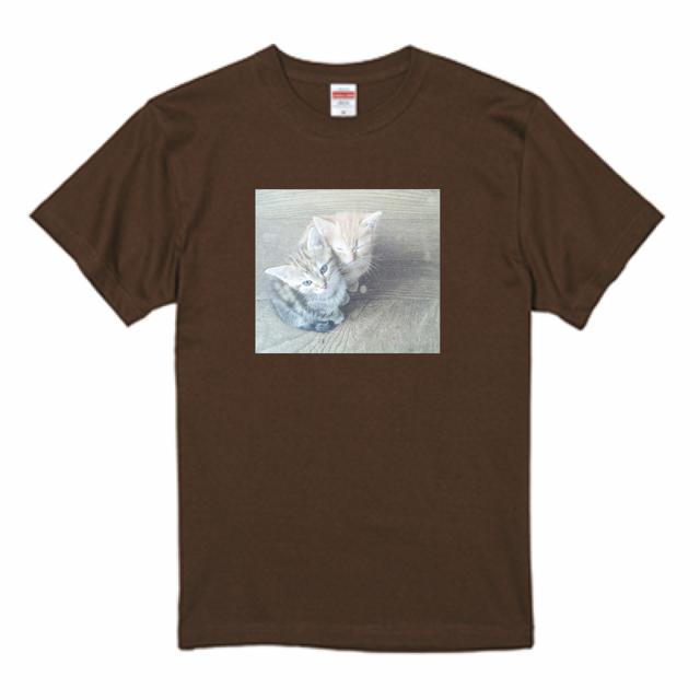 『猫Tシャツ特集#1』 United Athle5.6ozTシャツ ダークブラウン