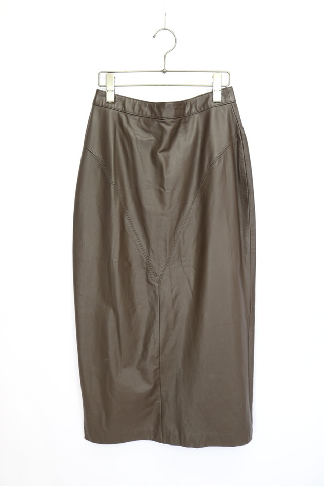 plain design skirt / BRN
