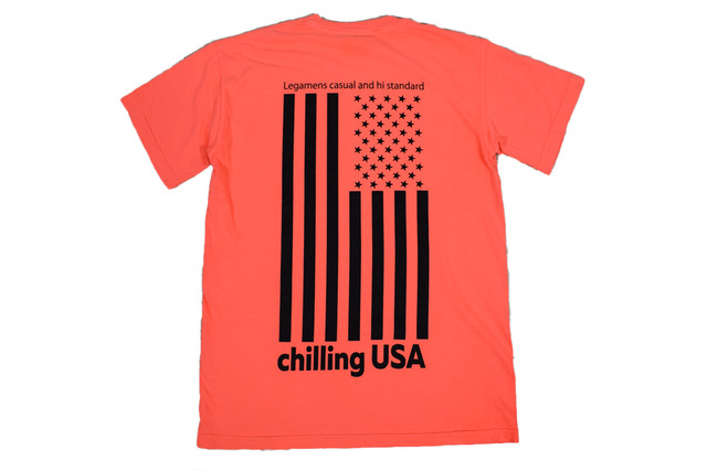 【Chilling USA T-shirt】/ neon red