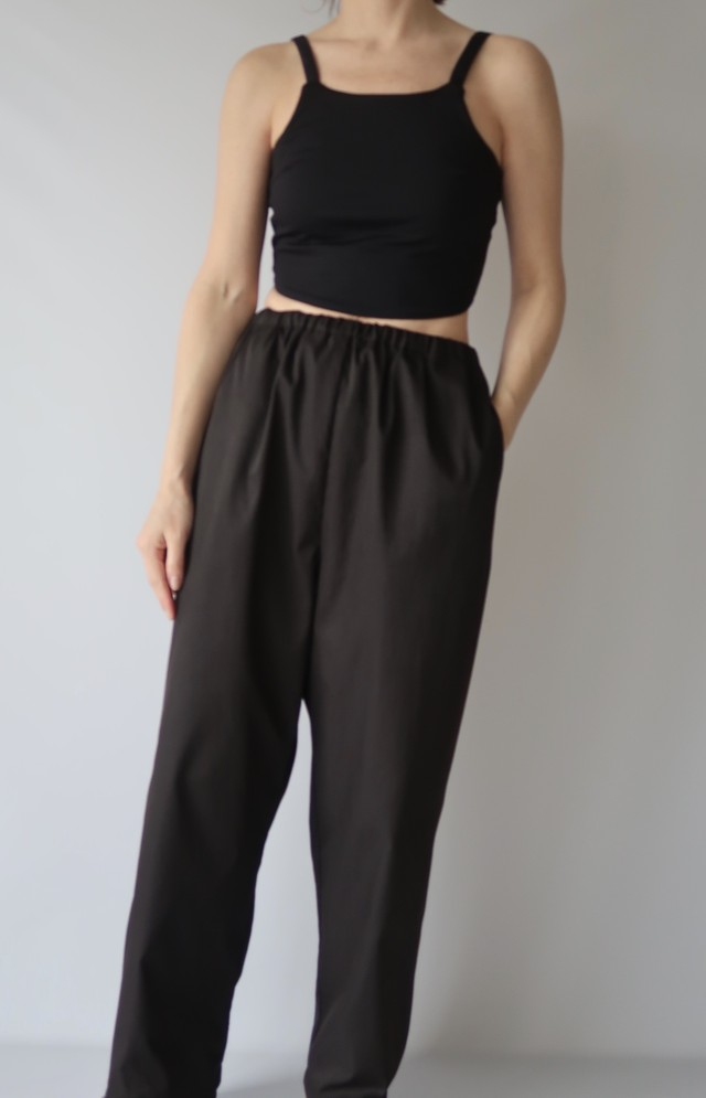 Cropped Cup Camisole_Black
