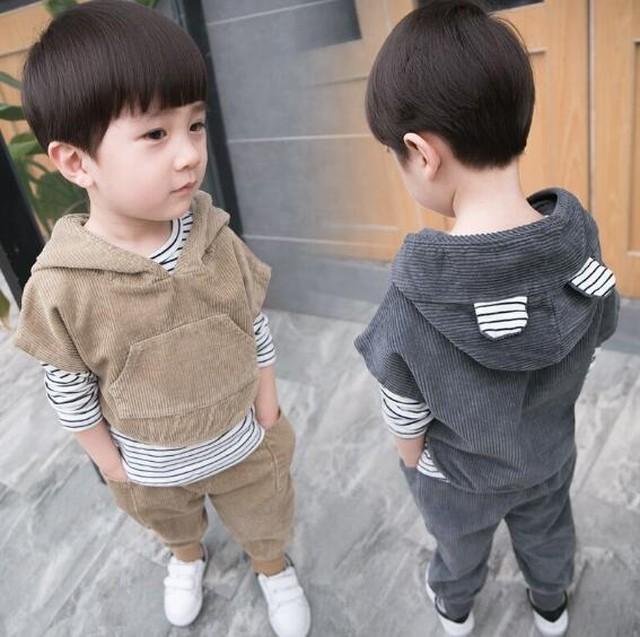 0042点セット トップス+スカート 春秋 子供服 キッズ  韓国ファッション カジュアル系