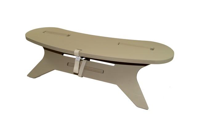 C TABLE Boomerang W800  C型テーブル ブーメラン「メラミン天板」アウトドア テーブル 焚き火 テーブル