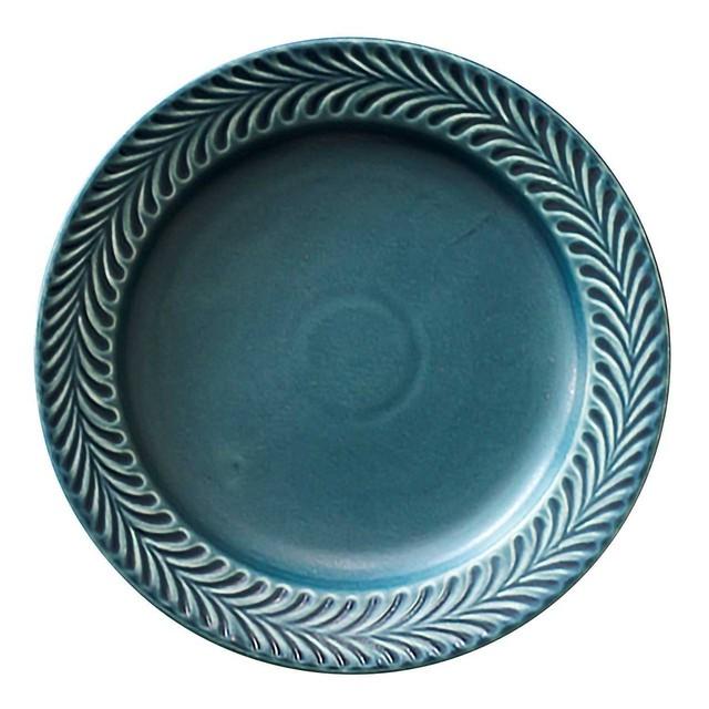 波佐見焼 翔芳窯 ローズマリー リムプレート 皿 17.5cm デニム